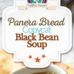 Homemade Panera Bread Black Bean soup photo collage