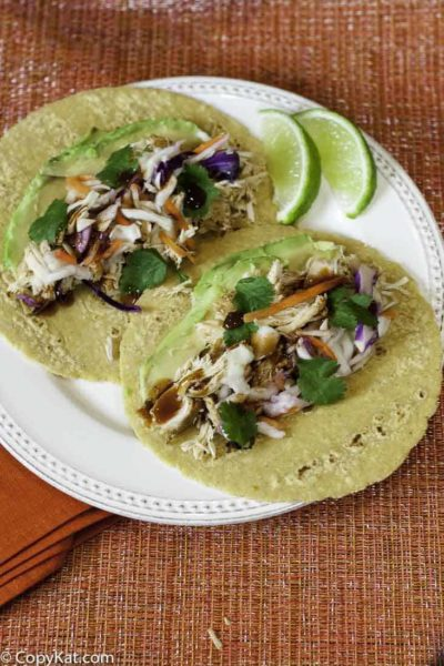 Pulled Chicken Tacos can be made in either the Instant Pot or the slow cooker.