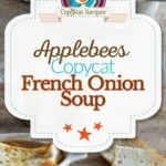 Collage of homemade Applebees French Onion Soup photos