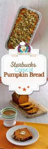 Collage of homemade Starbucks Pumpkin bread photos.