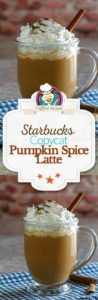 Collage of homemade Starbucks Pumpkin Spice Latte photos