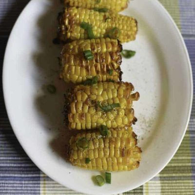 Air fryer roasted corn on the cob