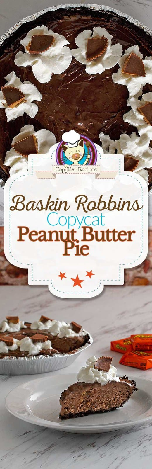 Make your own Baskin Robbin's Peanut Butter Pie at home.  Everyone loves this ice cream dessert recipe.