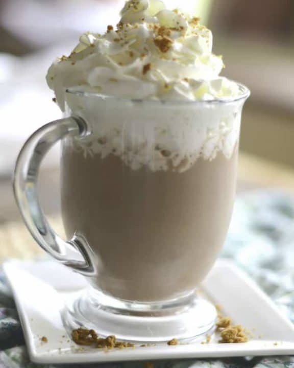 a homemade Starbucks Snickerdoodle Hot Chocolate