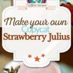 Homemade Strawberry Julius photo collage
