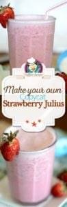 Homemade Strawberry Julius photo collage
