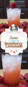 Homemade Sonic strawberry lemonade photo collage