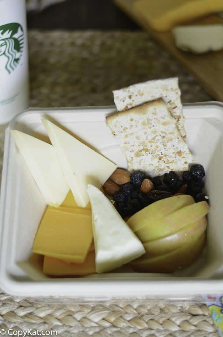Make you own Starbucks Cheese & Fruit Bistro Box at home with this easy recipe.