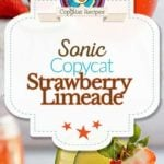 Collage of homemade Sonic Strawberry Limeade photos