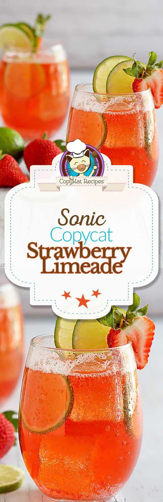 You can recreate the Sonic Strawberry Limeade at home with this easy copycat recipe.
