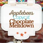 Applebees chocolate meltdown photo collage