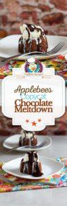 Applebees chocolate meltdown photo collage