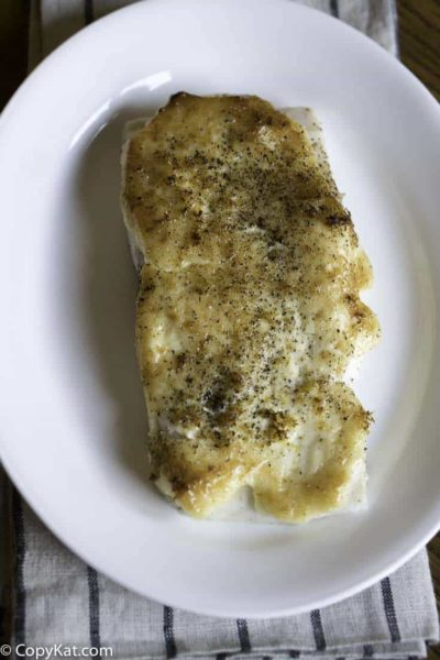 Recreate Luby's Baked White Fish at home with this easy copycat recipe.