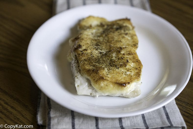 Make your own Luby's Cafeteria Baked White Fish at home, it is so easy to make.