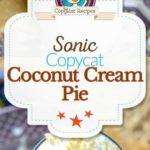 coconut cream pie shake photo collage