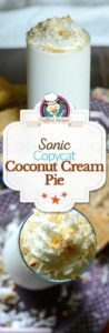 coconut cream pie shake photo collage