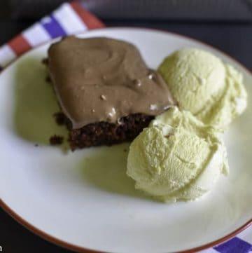 Coca Cola Cake and ice cream