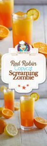 Homemade copycat red robin screaming red zombie photo collage