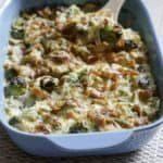 Brussels Sprouts Au Gratin is a hard side dish to resist. Brussels sprouts are baked in a creamy cheesy sauce with crispy bacon.