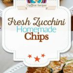 fried zucchini chips photo collage