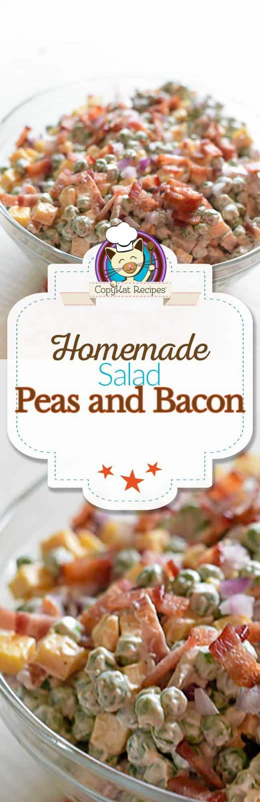 Try this easy to make pea salad with bacon.  This is a quick and easy salad.