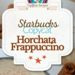Starbucks Horchata Frappuccino photo collage
