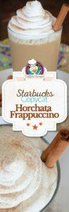Starbucks Horchata Frappuccino photo collage
