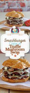 Smashburger Truffle Mushroom Swiss Burger photo collage