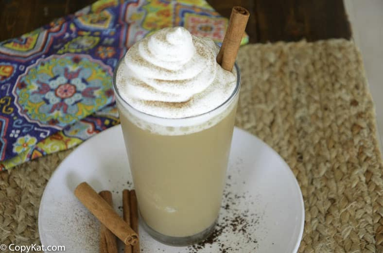 You can recreate this Starbucks Horchata Frappuccino at home with this copycat recipe.