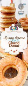 homemade Krispy Kreme glazed donuts photo collage