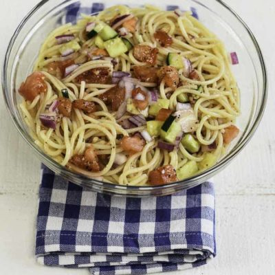 You can make Luby's Spaghetti Salad at home just like they do!
