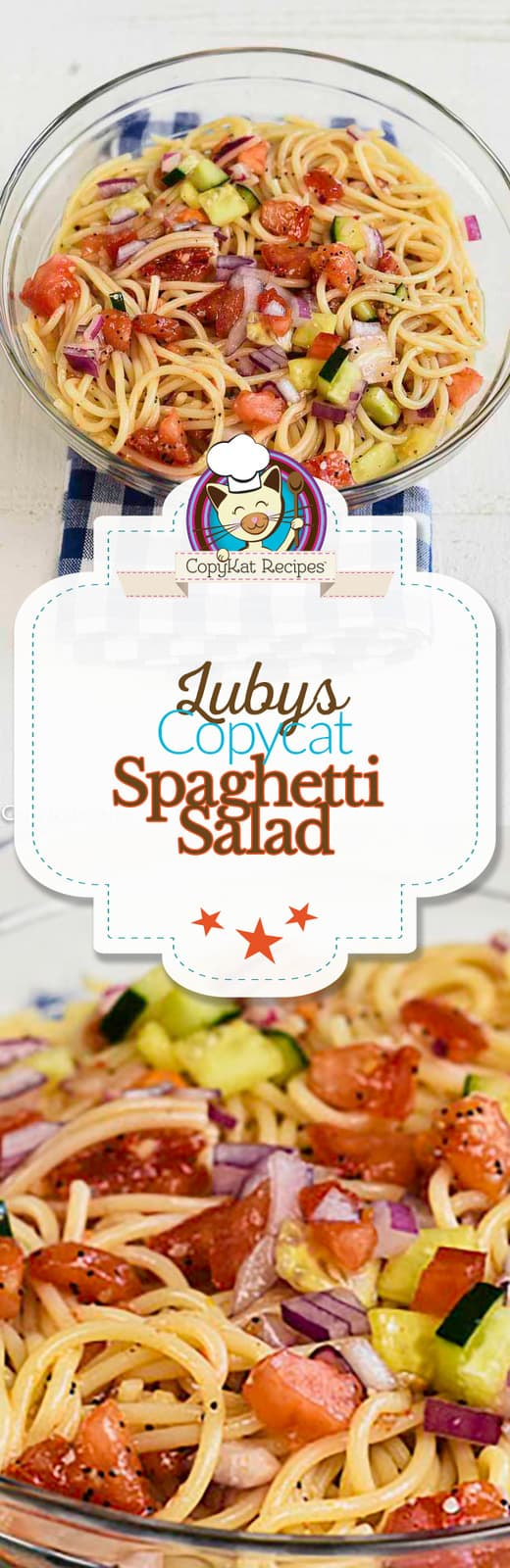You can prepare Luby's Spaghetti Salad just like they do when you make this copycat recipe at home.