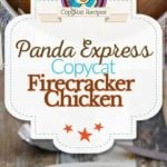 Panda Express Firecracker Chicken photo collage
