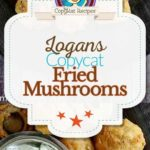 Logan's Roadhouse fried mushrooms photo collage