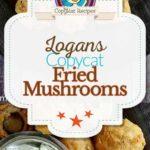 Logan's Roadhouse fried mushrooms photo collage
