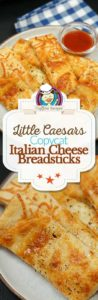 Little Caesars Italian Cheese Breadsticks photo collage