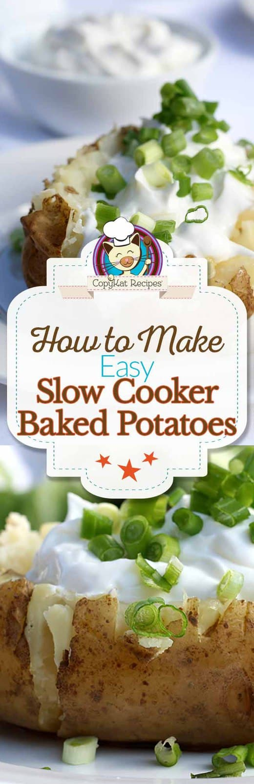 Learn how to make baked potatoes in your slow cooker, its so easy to do!