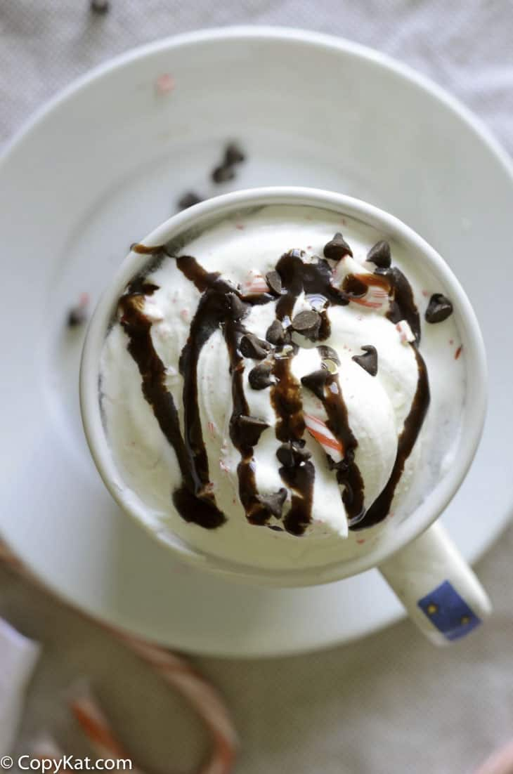Enjoy a McDonald's McCafe Peppermint Mocha at home, when you make this copycat recipe.