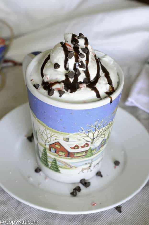 Recreate McDonald's McCafe Peppermint Mocha at home with this copycat recipe.