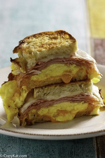 You can recreate the Denny's Moon's Over My Hammy at home with this copycat recipe.