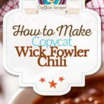 Homemade Wick Fowler chili photo collage