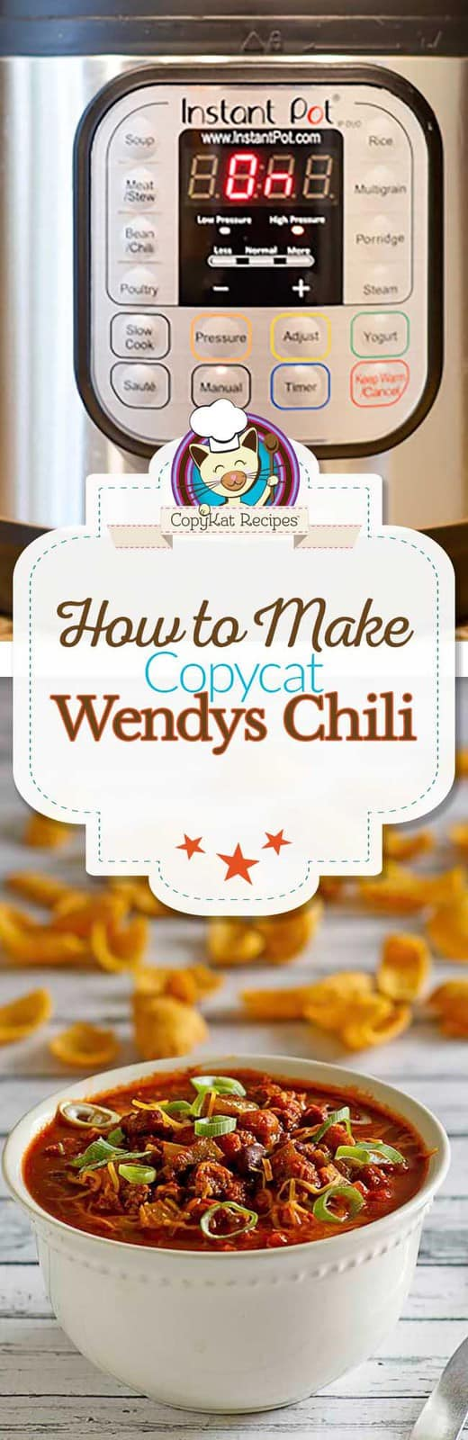 Make your own version of copycat Instant Pot Wendys Chili at home.