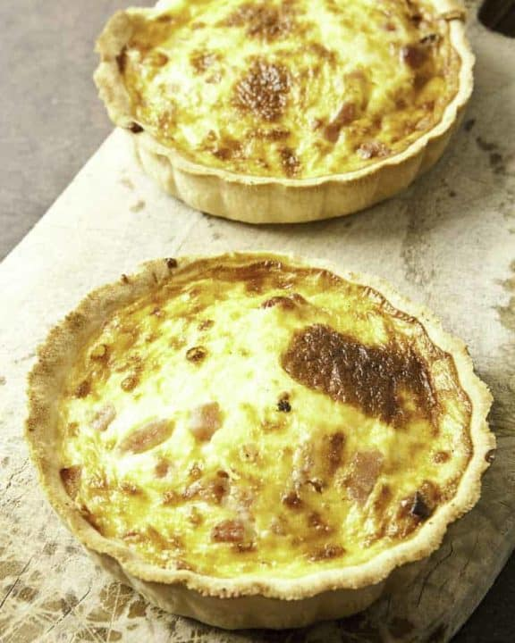 two quiche lorraines