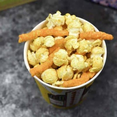 Make a delicious snack of Cheetos Popcorn.