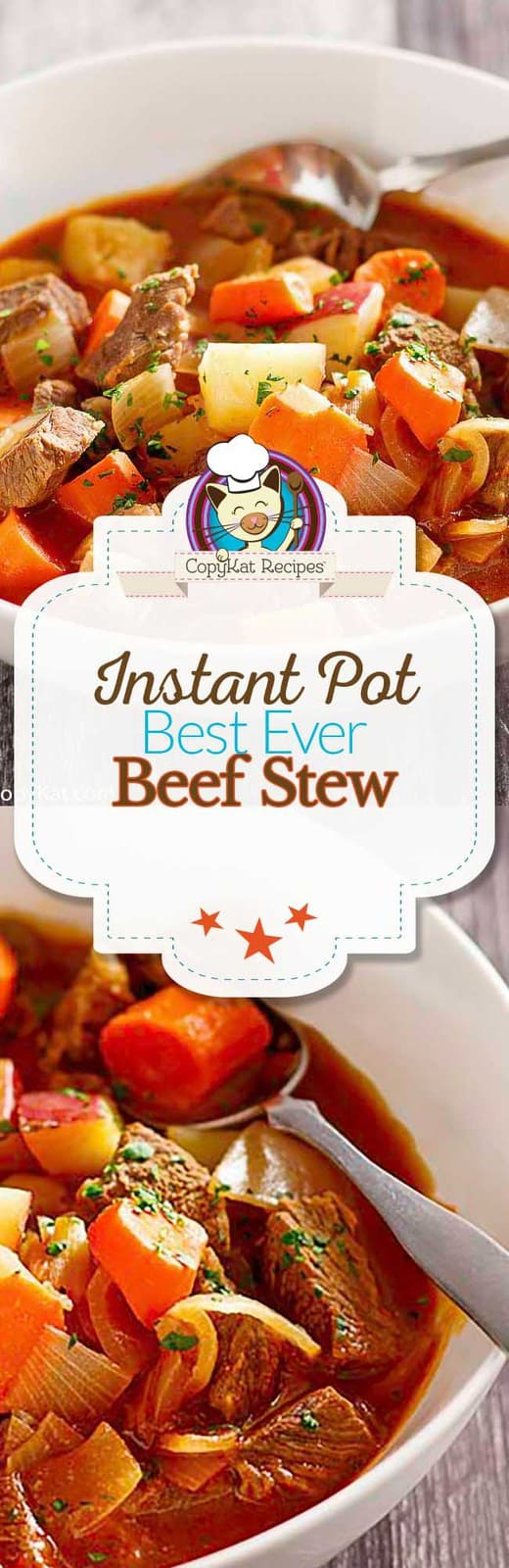 You can make the best ever Instant Pot Beef Stew with this easy recipe.  #instantpot #pressurecooker #stew #beefstew #recipe