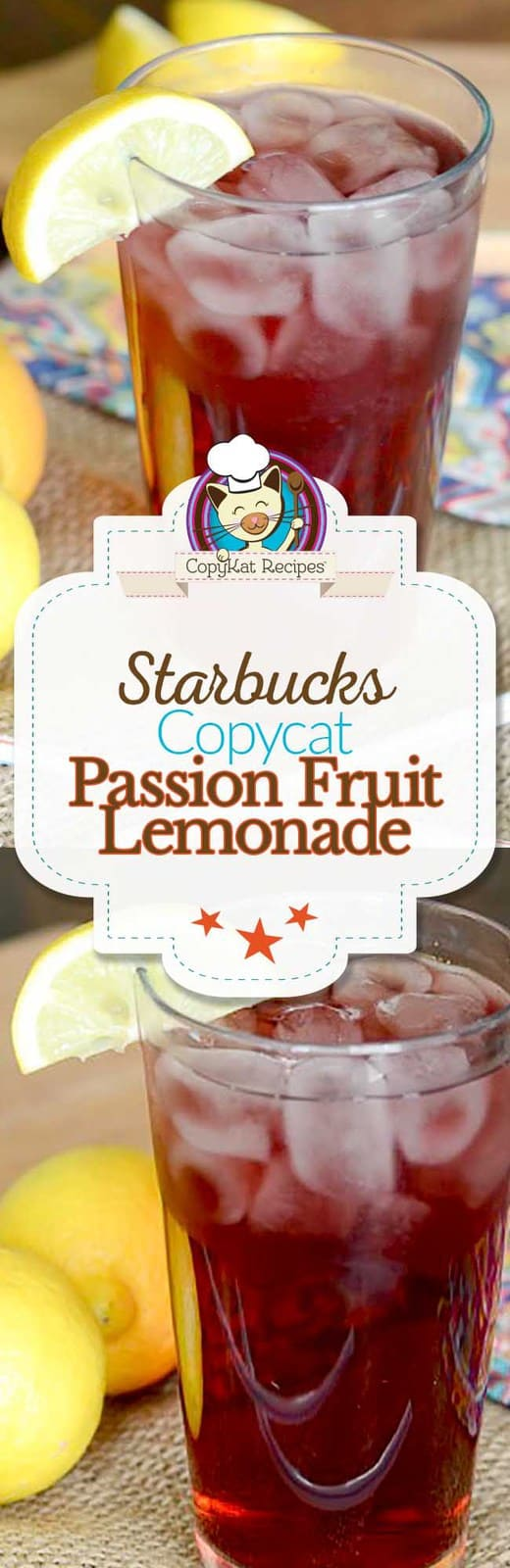 You can recreate the Starbucks Passion Fruit Lemonade at home with this easy copycat recipe.