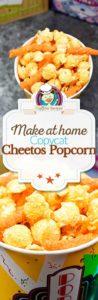 Collage of homemade Cheetos Popcorn photos