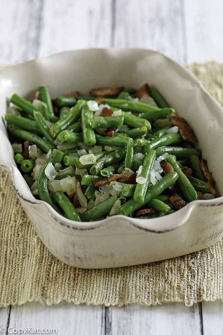 You can recreate Cracker Barrel Green Beans just like they do with this easy copycat recipe.