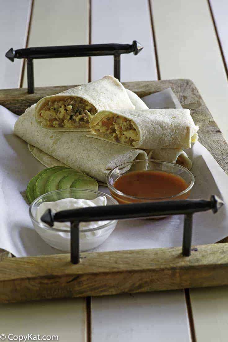 Make your own McDonald's Breakfast burrito at home with this easy copycat recipe.