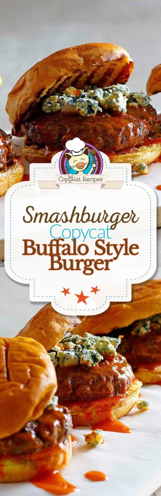 You can recreate the Smashburger Buffalo & Blue Cheese burger at home. #burger #copycat #Smashburger #buffalostyle #burgers #recipe #sauce